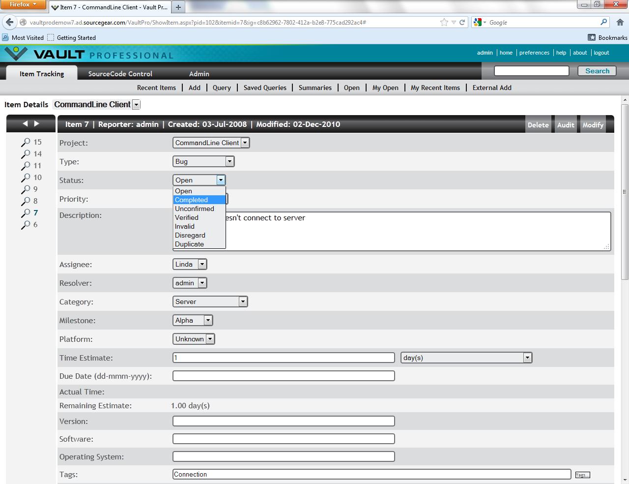 Full SourceGear Vault Pro screenshot
